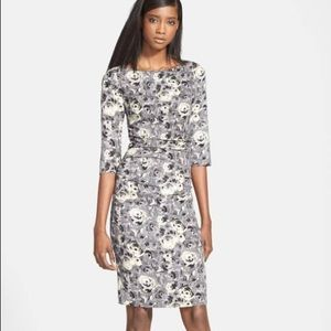Tracy Reese stretch crepe floral shift dress, 8